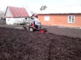 первая пашня мини трактора из мотоблока