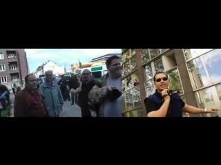 Sabri die ein Mann Armee macht Zionisten Reporter eiskalt fertig!!! Ehrenmann!!!