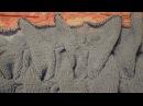 Вязание широкой косы для лало кардигана в технике нукинг
