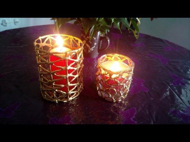 Décorer ses bougies a la colle à chaud