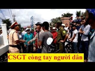 Tin pháp luật - Đắk Lắk: Xôn xao clip CSGT còng tay người dân