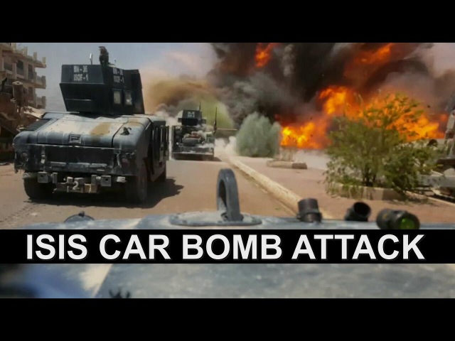 Iraqi Special Forces ISOF escape an ISIS car bomb attack unharmed