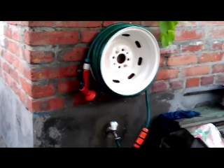 Делаем катушку для шланга из автомобильного диска