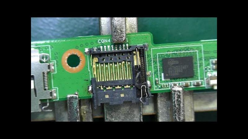 Не фиксируются карты памяти в слоте. Планшет Asus ME302KL K005. Ремонт слота для карт па...