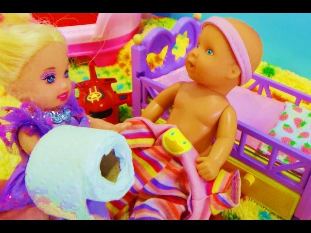 Мультик про кукол. Макс мумия из бумаги. Катя и Макс.