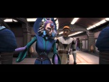Star Wars The Clone Wars -- Satine Talks To The Chancellor About Her Attack 720p