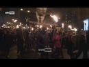 Неонацисты в Киеве проводят факельное шествие в честь Бандеры