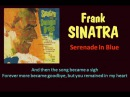 Serenade In Blue Frank Sinatra with Lyrics