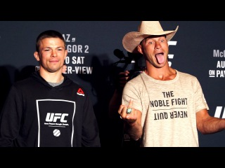 UFC 202: Media Day Staredowns ufc 202: media day staredowns