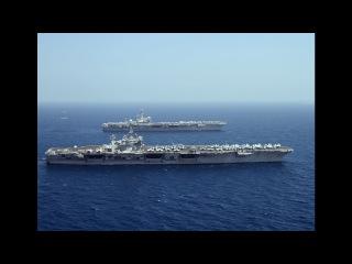 US Navy USS Carl Vinson CVN 70 & USS George H W Bush CVN 77 the Pacific Ocean