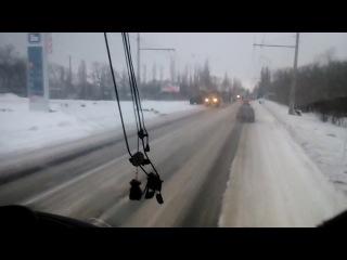Колона БПМ-97Выстрел. Краснодон, 10.01.2015.