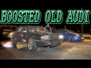 BOOSTED AWD Audi DOMINATES Small Tire STREET RACE!
