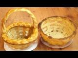 Плетёная пасхальная корзинка из теста  Yeast dough Easter basket recipe
