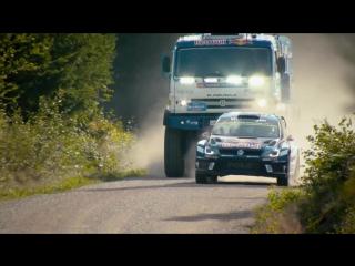 VW Polo R WRC vs. KAMAZ truck