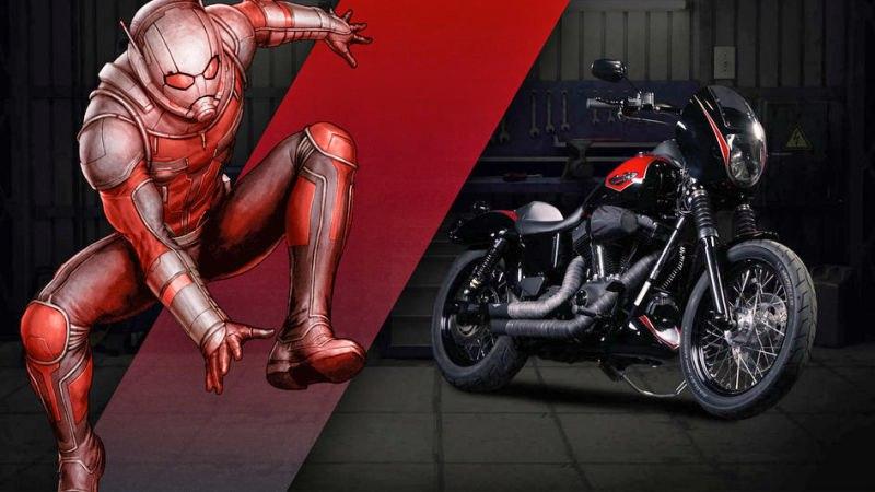 человек муравей мотоцикл