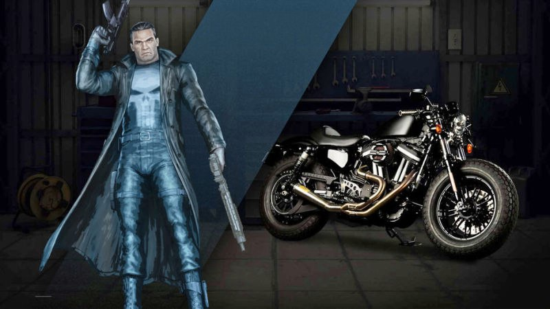 punisher каратель мотоцикл харлей