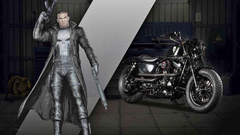каратель комиксы мотоцикл
