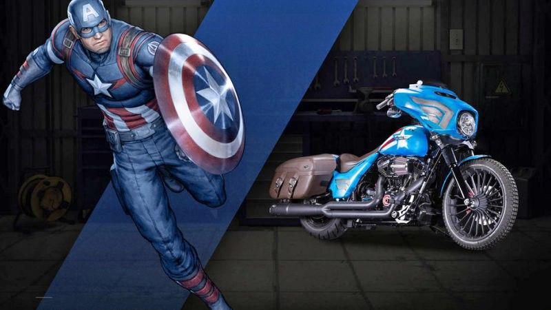 мотоцикл капитана америки
