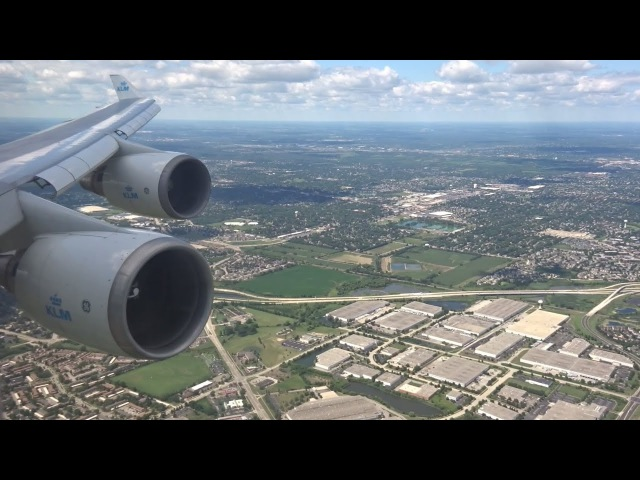 KLM 747-400 - Beautiful Afternoon landing at Chicago Ohare