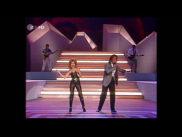 Jermaine Jackson Pia Zadora When the Rain Begins to Fall ZDF HD 1985
