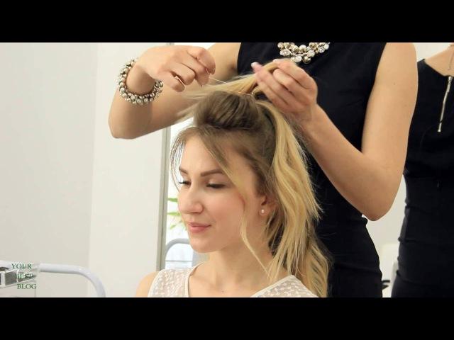 5 модных причесок на средние волосы ПУЧОК мальвинка стильные ХВОСТЫ YourBestBlog