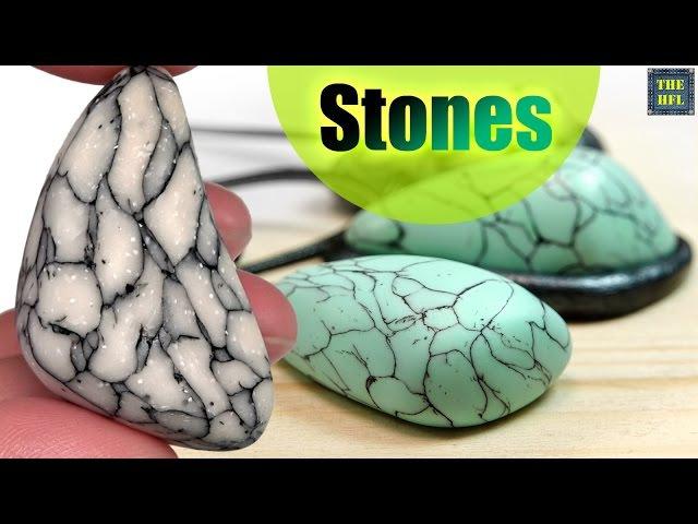 Полимерная глина ▼ ИНТЕРЕСНЫЕ КАМНИ ▼ Самый простой способ ! (Светлана Няшина)