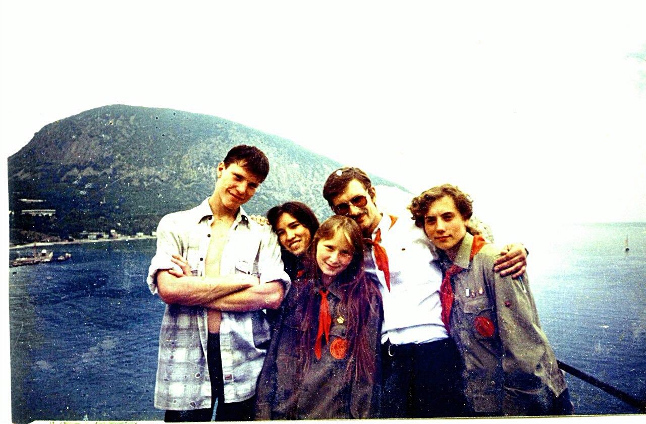 На башне Ихтиандра Артек, август 1997 г. 1 сбор пионеров СНГ