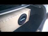 Alphard Hannibal SD 124 в ФИ коробе от Kicx QS 1.600 ( bass, db, spl, sond, low, flex, alphard, pioner )