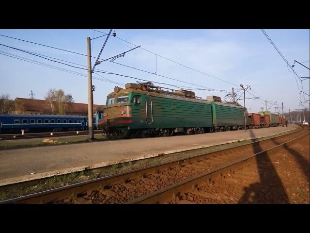 Электровоз ВЛ11м-066 с грузовым поездом. Electric VL11M-066 with a freight train