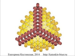 Мозаичный Треугольник С Ндебельскими Гранями. Бисерный Мульт