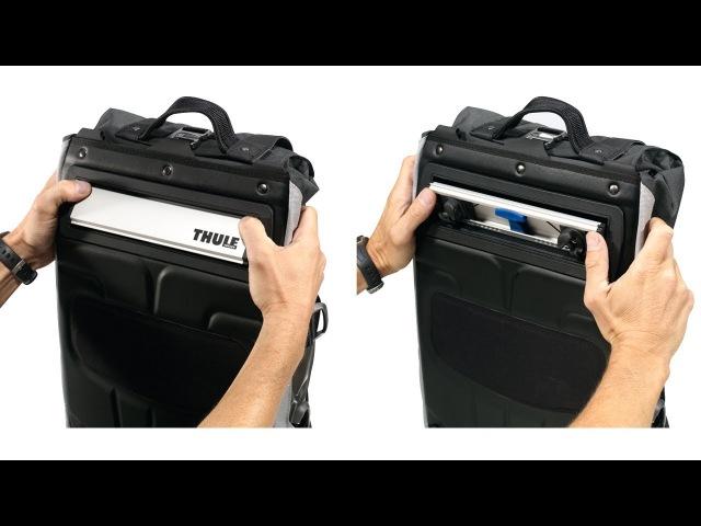 Bike Bags Racks - Thule Pack 'n Pedal Pannier Vanishing Hardware