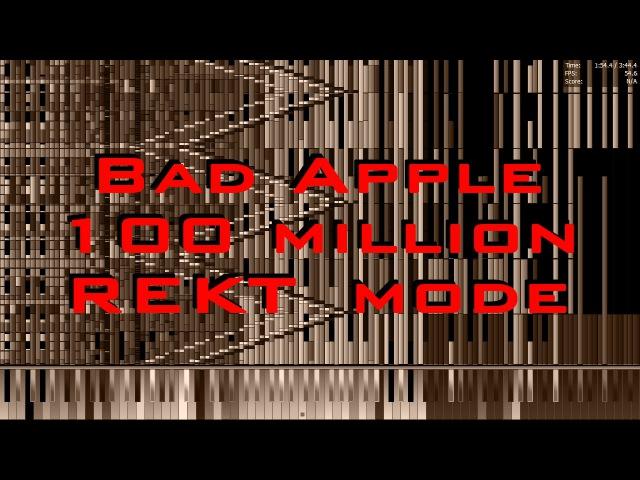 [Black MIDI|||175 Subs Special] Bad Apple Rekt Mode 100 Million (Total No Lag)