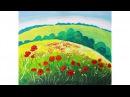 Уроки рисования. Как нарисовать летний пейзаж гуашью Erich Krause | Art School