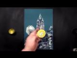 Speed Painting - Winter Castle - Technique Monotype - Рисуем Зимний Замок - Техника Монотипия