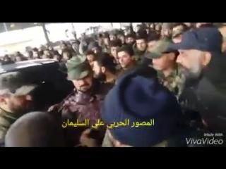 Полковник Сухейль Аль-Хассан (Тигр) на встрече со своими героями - бойцами спецподразделения