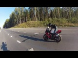 Girl Wheelie on Motorcycle Yamaha R1 | Девушка на заднем колесе мотоцикла Ямаха Р1