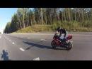 Girl Wheelie on Motorcycle Yamaha R1 Девушка на заднем колесе мотоцикла Ямаха Р1