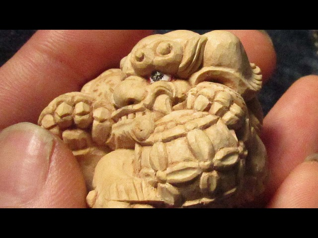 The LION of the japanese temple style!! [Wood carving!]