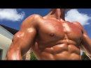 19 yr old fitness model Zac Perna pool and beach photoshoot_cut