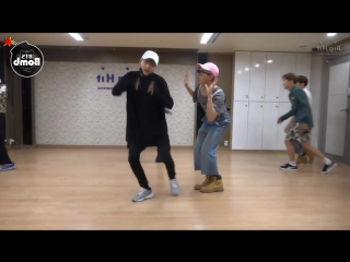 [vk] mirrored [dance practice] bts -  baepsae (silver spoon, crow tit)