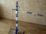 Ворочаемся с грузом 322 грамма - SMK 10.200 - Модель Башенного Крана в масштабе 1:40