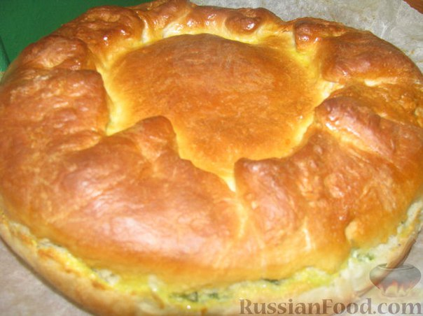Пирог с луком и рисом рецепт
