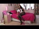 Natalia very hot girl tease in black pantyhose | HD