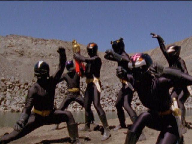 Power Rangers Wild Force - Power Rangers vs Shadow Rangers.