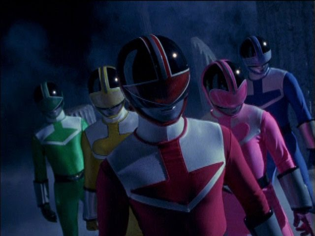Power Rangers Time Force - Power Rangers vs Evil Power Rangers.