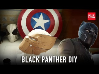 #116.1: Black Panther Helmet Part 1 - Template & Cardboard (free download) Costume How To | Dali DIY