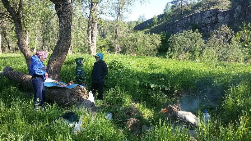 Усть-Катав. Наша бобровая поляна на речке Юрюзань
