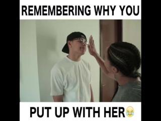 Когда вспомнил по какой причине ты со своей девушкой