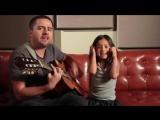 папа с дочкой на гитаре ADELE ROLLING IN THE DEEP