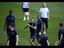 Dernier entrainement des Bleus à Clairefontaine avant France - Portugal